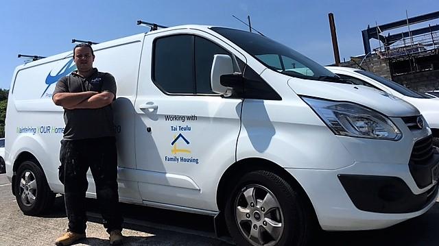 ASW van with FHA logo